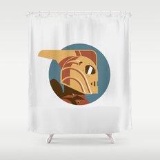 Headgear: Rocketeer Shower Curtain