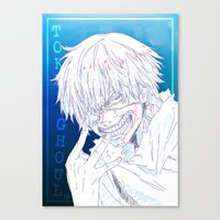 tokyo ghoul Canvas Prints featuring Tokyo Ghoul  by Neo Crystal Tokyo