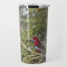 Pair of Crimson Rosellas Travel Mug