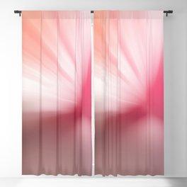 Peach Pink Blurr Abstract Design Blackout Curtain