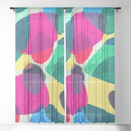 Color Wedge One 01 Sheer Curtain