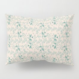 Contemporary Indian floral in watercolor - teal and send Pillow Sham