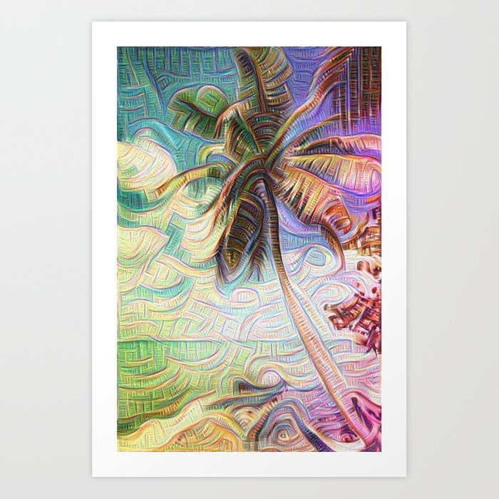 Inceptionist Palm Art Print on Society6 by Christine aka stine1