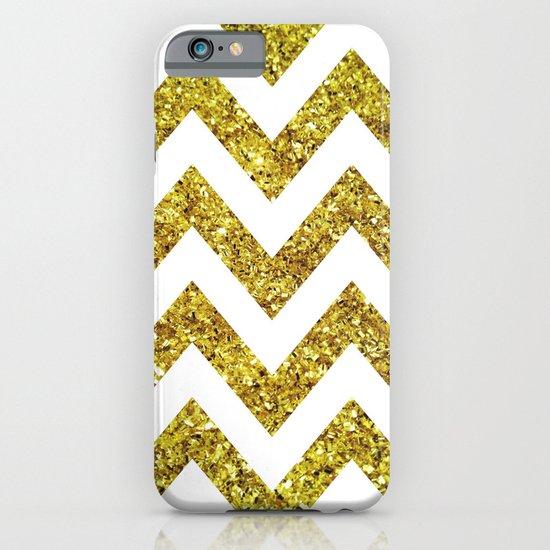 GOLD GLITTER CHEVRON iPhone & iPod Case