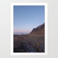 sunset in iceland Art Print