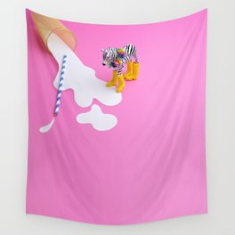No use crying over spilled milk Wall Tapestry