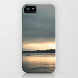 Falls of Lora, Scotland Sea Sunset iPhone Case