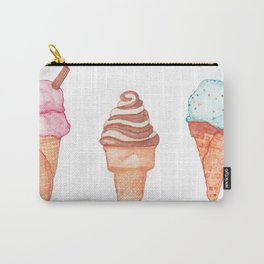 Watercolour Ice Cream Cones Carry-All Pouch