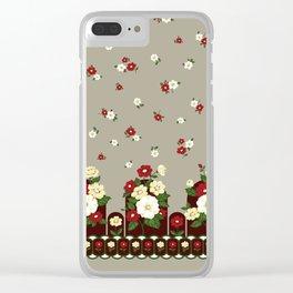 flower garden -brown Clear iPhone Case