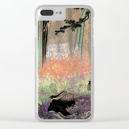 Japanese Wagtail by Waterfall Clear iPhone Case