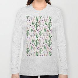 Llama Llamarama + Cactus Long Sleeve T-shirt