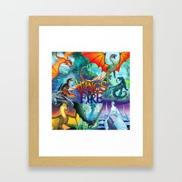 Wings of fire dragon Framed Art Print