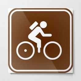 "Urban Pictograms ""Fixie"" Metal Print"