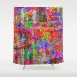 Vibrant Chaos - Mixed Colour Abstract Shower Curtain