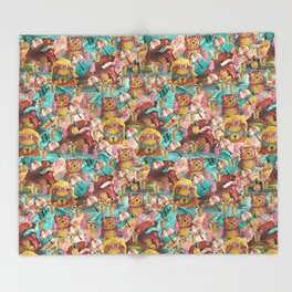 Bear Pool Party Throw Blanket
