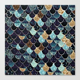REALLY MERMAID - MYSTIC BLUE Canvas Print