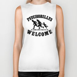 PSYCHOBILLYS WELCOME - COME INTO THE PIT Biker Tank