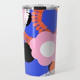 Contrast ethnic flower Travel Mug