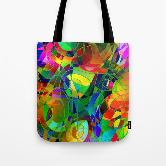 Bouquet Abstract Tote Bag