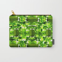 August Babies Peridots Birthstone Abstract Purple Design Carry-All Pouch
