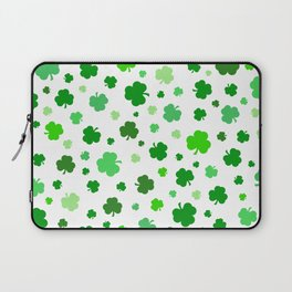 Green Shamrock Pattern Laptop Sleeve
