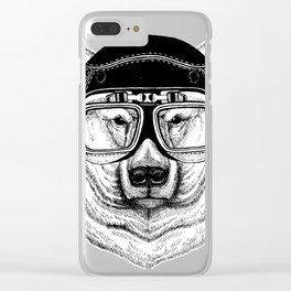 Polar Bear Speed Rebel Clear iPhone Case