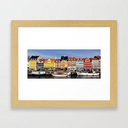 Copenhague // Copenhagen - Nyhavn Framed Art Print
