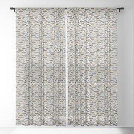 Knitted melange.1 Sheer Curtain