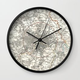 Vintage Map of London England (1832) Wall Clock