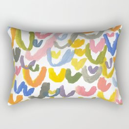 Abstract Letterforms 1 Rectangular Pillow