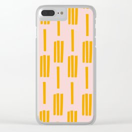 All lined up Clear iPhone Case