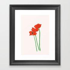 Lovely Poppies Framed Art Print