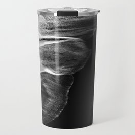 Black Sand White Wave Travel Mug