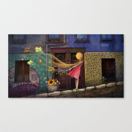 """Valparaiso"" Illustration Matylda Konecka Canvas Print"
