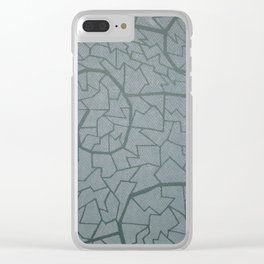 mosaic waves Clear iPhone Case