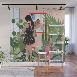 Plant Girl #3 Wall Mural