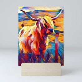 Highland Cow 4 Mini Art Print