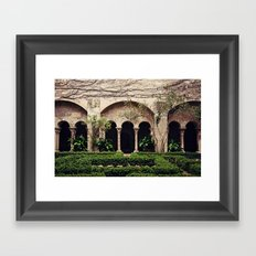 Van Gogh's Courtyard in St Remy Framed Art Print