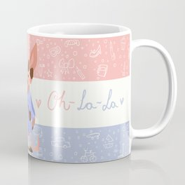 Little Missy  Aardvark in France! Coffee Mug