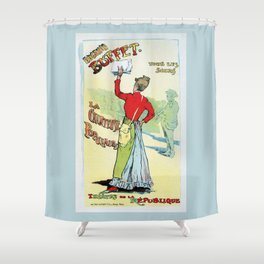 Female singer Eugenie Buffet Shower Curtain