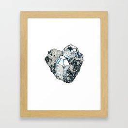 Hematite Crystal Cluster Framed Art Print