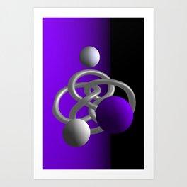 escaped -3of3- violet Kunstdrucke