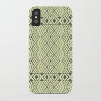 lime green iPhone & iPod Cases featuring Lime Green Aztec by Pom Graphic Design