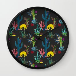 Mexican Cacti Wall Clock