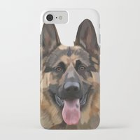 german shepherd iPhone & iPod Cases featuring German Shepherd by Just Like A Breeze