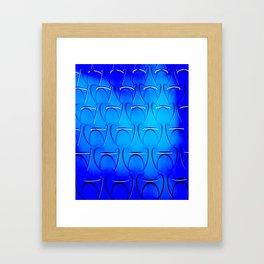 Blue Patterns Framed Art Print