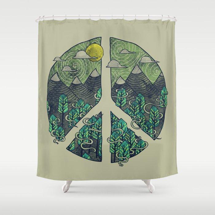 Peaceful Landscape Shower Curtain