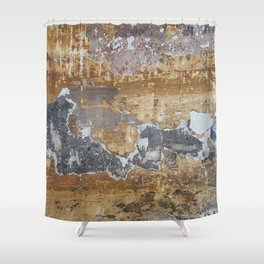 Old grunge wall Shower Curtain