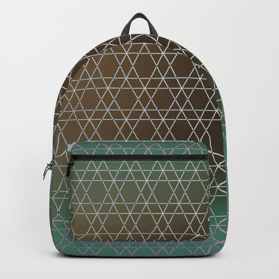 Green Oriental Shades and Colors, Gradient. Backpack