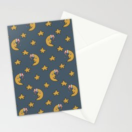 Doodle Moon Pattern Stationery Cards